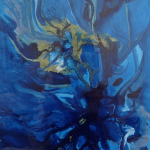 (CreativeWork) Blue II by Kristen Riddell. arcylic-painting. Shop online at Bluethumb.