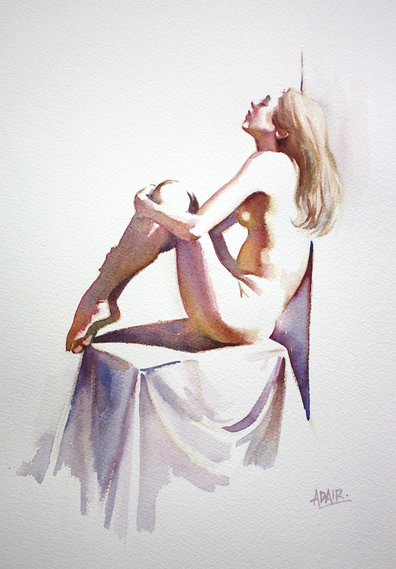 """(CreativeWork) """"Play of Light"""" by Pauline Adair. watercolour. Shop online at Bluethumb."""