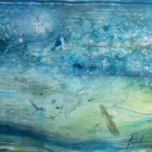 (CreativeWork) Underwater Currents by Pamela Fairburn. watercolour. Shop online at Bluethumb.