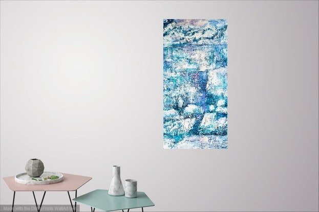 (CreativeWork) Icy Reflections by Pamela Fairburn. Mixed Media. Shop online at Bluethumb.