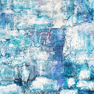 (CreativeWork) Icy Reflections by Pamela Fairburn. mixed-media. Shop online at Bluethumb.