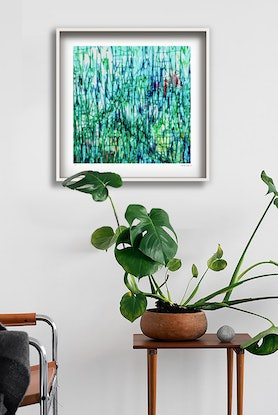 (CreativeWork) 'The Garden' in white box frame  Ed. 19 of 25 by George Hall. #<Filter:0x0000557f61bca5a8>. Shop online at Bluethumb.
