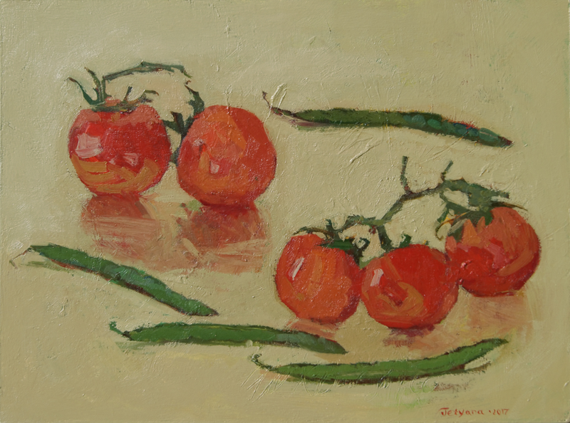 (CreativeWork) Truss Tomatoes Family  by Tetyana Khytko. Oil Paint. Shop online at Bluethumb.
