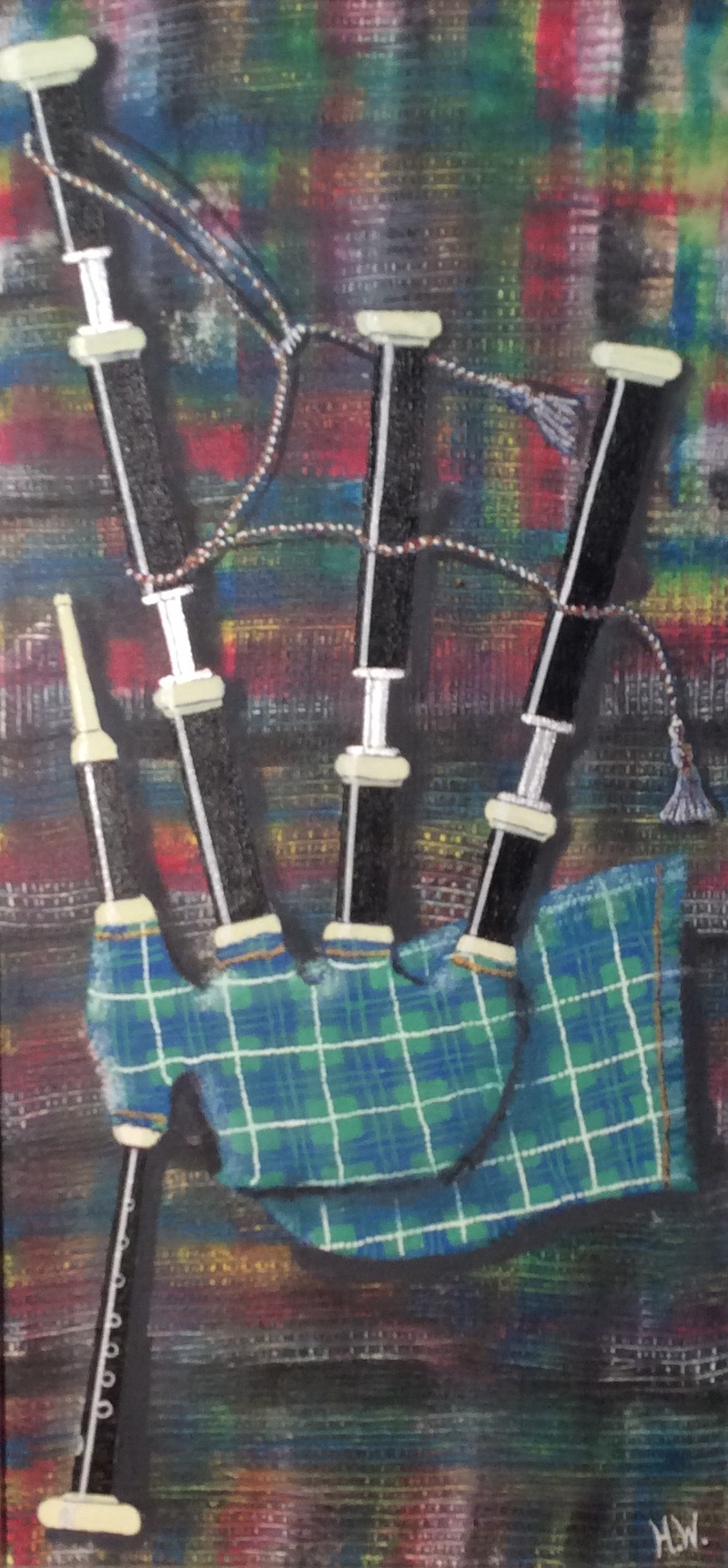 (CreativeWork) All the Tartans #3 by Hugh West. arcylic-painting. Shop online at Bluethumb.