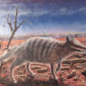 (CreativeWork) Numbat WA by Hugh West. oil-painting. Shop online at Bluethumb.