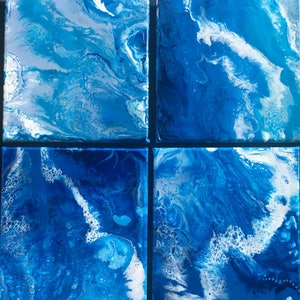 (CreativeWork) oceanic  by Kristen Riddell. arcylic-painting. Shop online at Bluethumb.