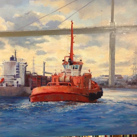 (CreativeWork) Melbourne Bound  by Louise Price. Oil Paint. Shop online at Bluethumb.