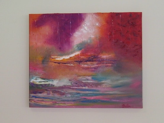 (CreativeWork) Calm your storm by Belinda McDonnell. Oil Paint. Shop online at Bluethumb.