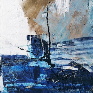 (CreativeWork) Dive Deeper by bryn newman. mixed-media. Shop online at Bluethumb.