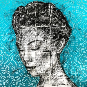 (CreativeWork) JASMINE 4 by Wail Ezzouhri. mixed-media. Shop online at Bluethumb.