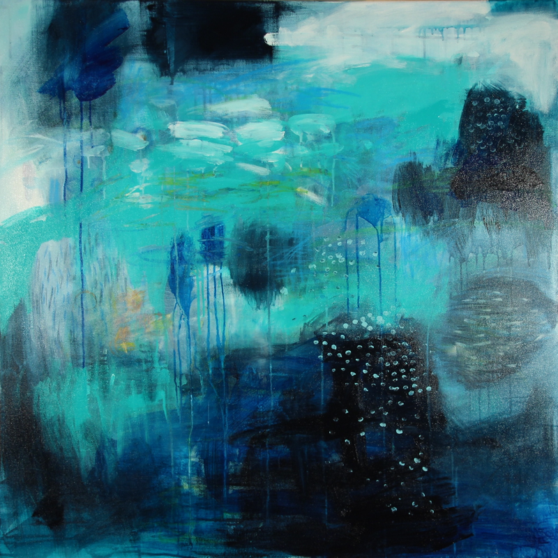 (CreativeWork) Storm Approaching by Greta Laundy. arcylic-painting. Shop online at Bluethumb.