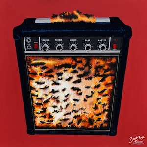 (CreativeWork) L'amplificateur (The Amplifier). by BRETT ROSE. arcylic-painting. Shop online at Bluethumb.