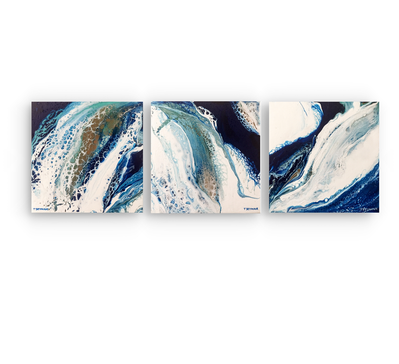 (CreativeWork) ROCK POOLS (Triptych) by Treena Seymour. arcylic-painting. Shop online at Bluethumb.