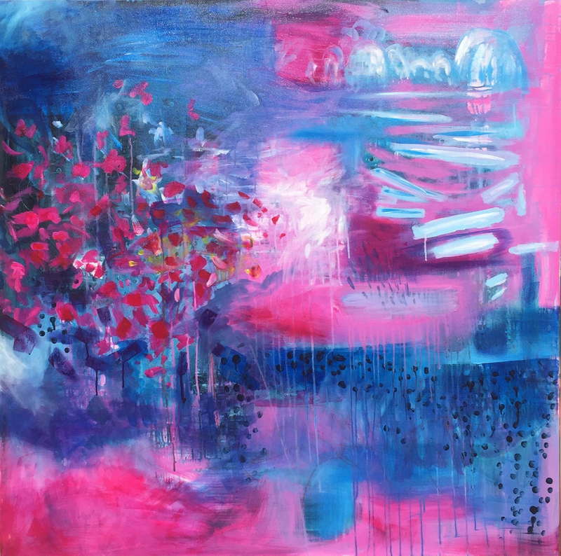 (CreativeWork) Winter Garden (II) by Greta Laundy. arcylic-painting. Shop online at Bluethumb.