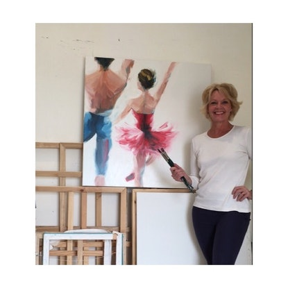 (CreativeWork) Dance With Me  by Jan Brown. Oil Paint. Shop online at Bluethumb.