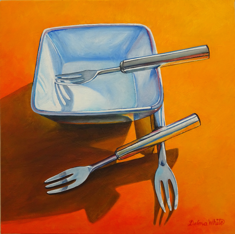 (CreativeWork) Dipping Bowl by Delma White. Oil Paint. Shop online at Bluethumb.