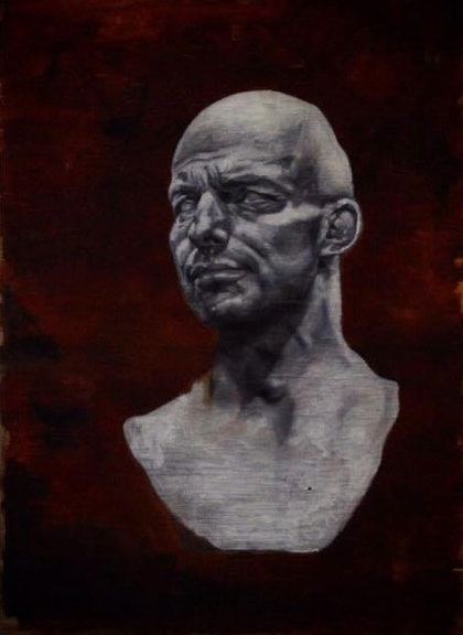 (CreativeWork) Bust by Julius Killerby. oil-painting. Shop online at Bluethumb.