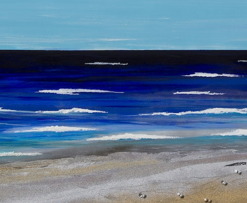 (CreativeWork) Indian ocean shore line by Andrew Demaine. Acrylic Paint. Shop online at Bluethumb.