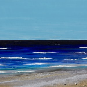 (CreativeWork) Indian ocean shore line by Andrew Demaine. arcylic-painting. Shop online at Bluethumb.