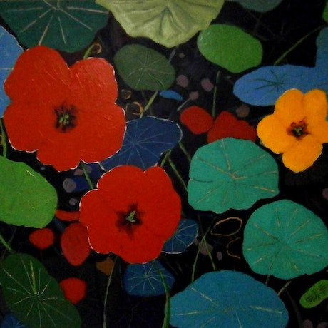 (CreativeWork) Luke's Flowers #1 by Andrew J Pearson. Oil. Shop online at Bluethumb.