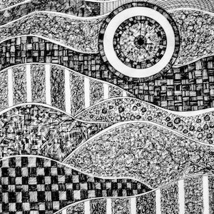 (CreativeWork) Destiny by Patricia Concha. drawing. Shop online at Bluethumb.