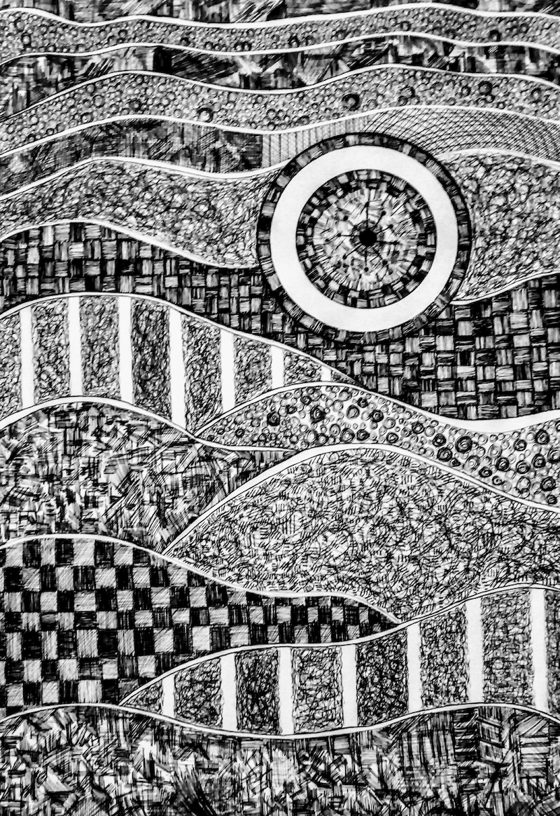 (CreativeWork) Destiny by Patricia Concha. Drawings. Shop online at Bluethumb.