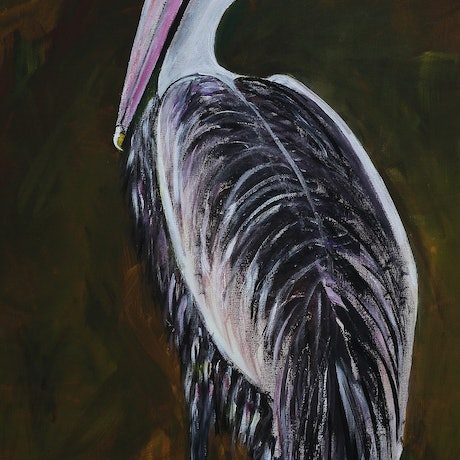 """(CreativeWork) """"I see you."""" by Fay 'O' Gelletly. Acrylic Paint. Shop online at Bluethumb."""