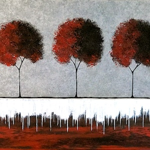 (CreativeWork) I See Red by Lisa Frances Judd. arcylic-painting. Shop online at Bluethumb.