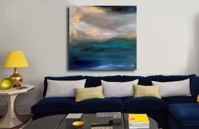 (CreativeWork) View by Duillia Xu. Acrylic Paint. Shop online at Bluethumb.