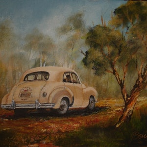 (CreativeWork) 1948  FX Holden by Jennifer Beresford. arcylic-painting. Shop online at Bluethumb.