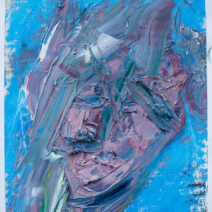 (CreativeWork) Abstract face by Jill Robb. oil-painting. Shop online at Bluethumb.