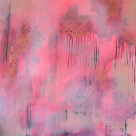 (CreativeWork) Shine Through by Katie Dobson. Acrylic Paint. Shop online at Bluethumb.