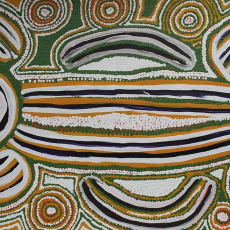 (CreativeWork) Aboriginal Artist - Rosie Napurrurla Tasman - Seed Dreaming by Catherine Jaktman - Curator. Acrylic Paint. Shop online at Bluethumb.