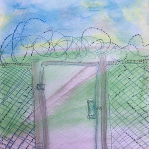 (CreativeWork) Your Gate by Gregory Charles. drawing. Shop online at Bluethumb.