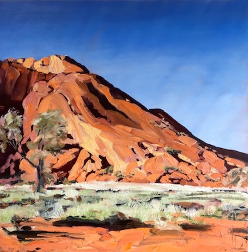(CreativeWork) Uluru  by Meredith Howse. oil-painting. Shop online at Bluethumb.