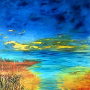 (CreativeWork) The space between by helene hardy. arcylic-painting. Shop online at Bluethumb.