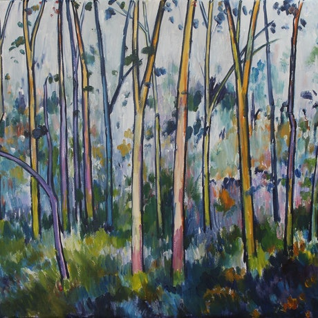 (CreativeWork) Brooyar Forest 1 by Glenn Miller. Oil Paint. Shop online at Bluethumb.