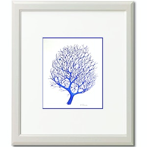 (CreativeWork) Blue Tree Coral by Dianne Delandro. drawing. Shop online at Bluethumb.