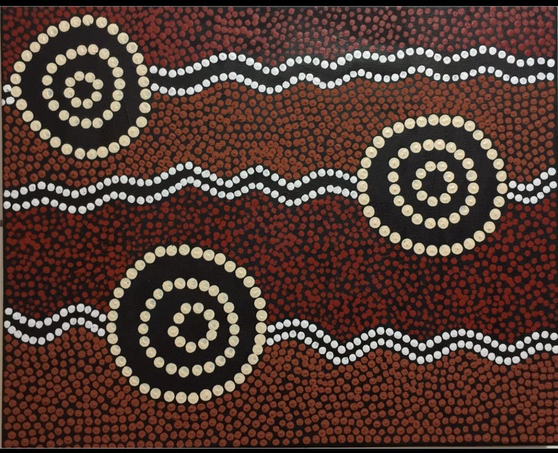 Aboriginal Dot Painting By Gidabul Doobay. Paintings For
