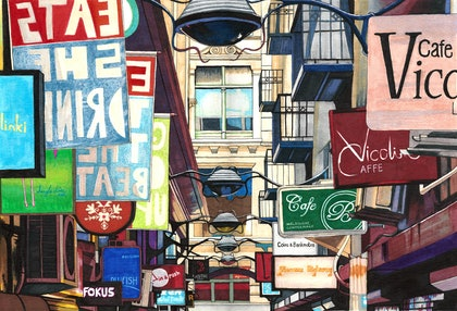Melbourne Street Signs - LARGE Limited Edition Print Ed. 3 of 50