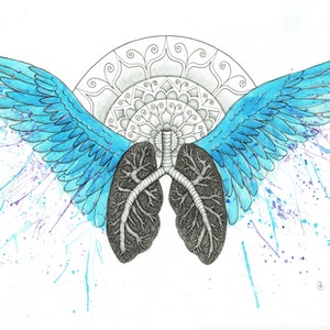 (CreativeWork) Breathe by ALW Clarke. mixed-media. Shop online at Bluethumb.