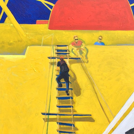 (CreativeWork) Jacob's Ladder by Wendy Black. Acrylic Paint. Shop online at Bluethumb.