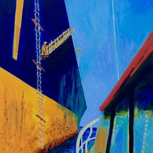 (CreativeWork) Jacob's Ladder, Portland by Wendy Black. arcylic-painting. Shop online at Bluethumb.