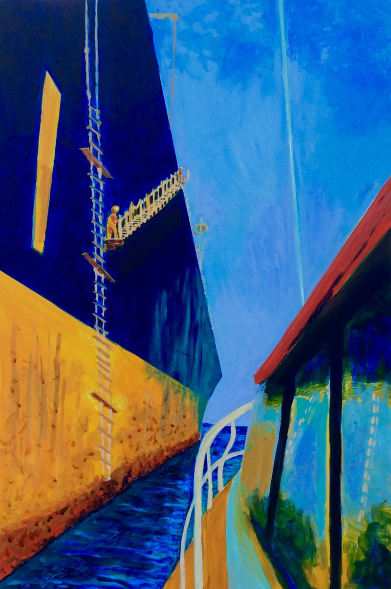 (CreativeWork) Jacob's Ladder, Portland by Wendy Black. acrylic-painting. Shop online at Bluethumb.