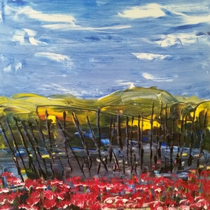 (CreativeWork) Trench Warfare by Peter Malcolm. arcylic-painting. Shop online at Bluethumb.