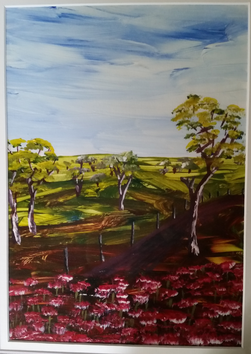 (CreativeWork) Quick Example by Peter Malcolm. Acrylic Paint. Shop online at Bluethumb.
