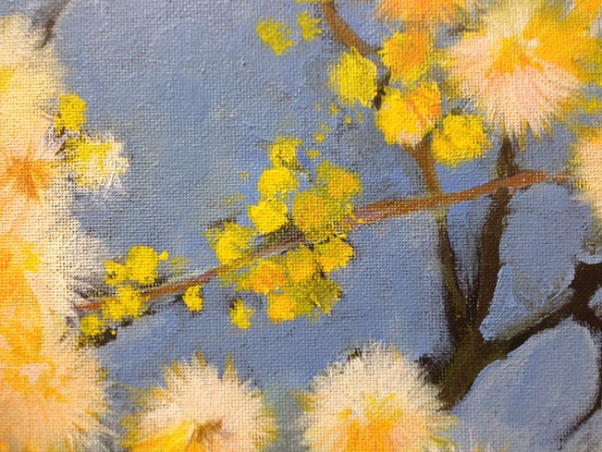 (CreativeWork) Wattle by Amanda Hunt. Acrylic Paint. Shop online at Bluethumb.
