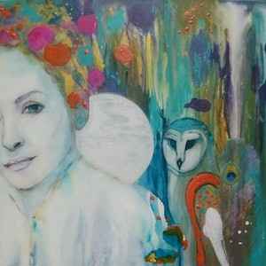 (CreativeWork) Dreamer by Paola Ditel. mixed-media. Shop online at Bluethumb.