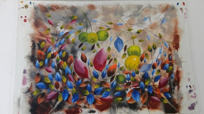 (CreativeWork) AUTUMN IN AMSTERDAM by edward mitford. oil-painting. Shop online at Bluethumb.