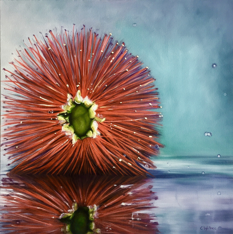 (CreativeWork) Bottlebrush by Catherine Wallace. oil-painting. Shop online at Bluethumb.